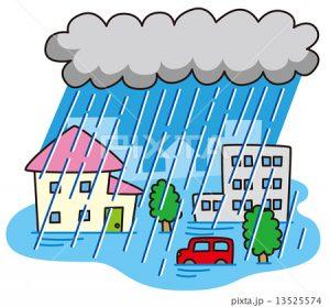 大雨による配達遅延について