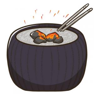 火鉢にもオガ炭!
